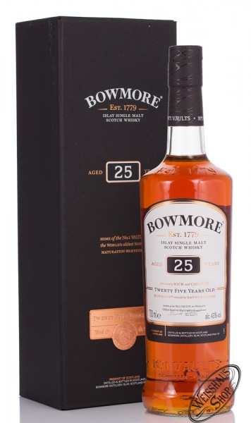 Bowmore 25 YO Small Batch Islay Whisky 43% vol. 0,70l
