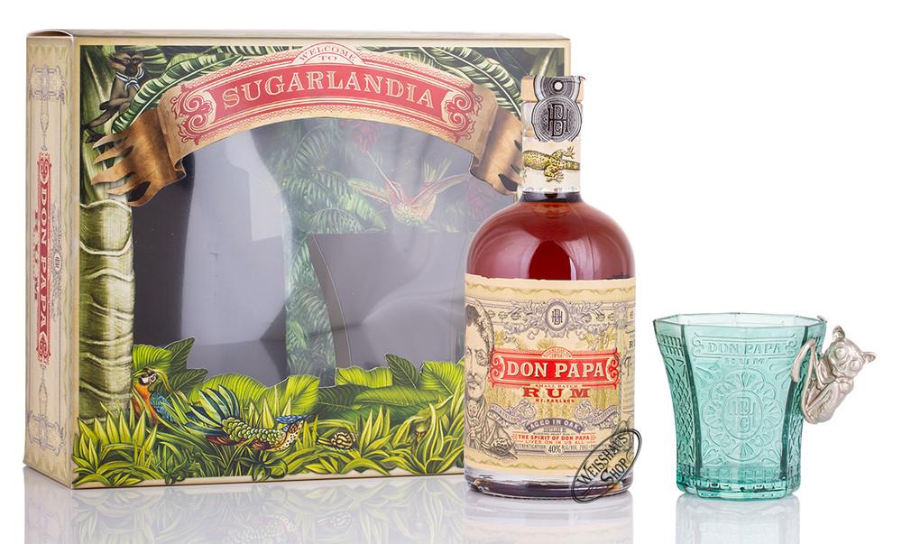 Don Papa Rum Geschenk-Set 40% vol. 0,70l