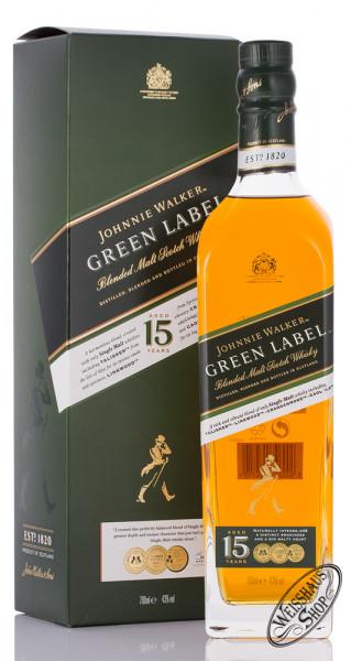 Johnnie Walker 15 YO Green Label Whisky 43% vol. 0,70l