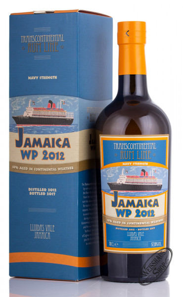 Transcontinental Jamaica Worthy Park Navy Rum 2012 57,18% vol. 0,70l