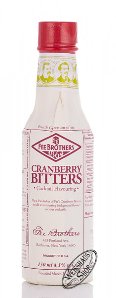 Fee Brothers Cranberry Bitters 4,1% vol. 0,15l