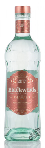 Blackwood's Vintage Dry Gin 60% vol. 0,70l