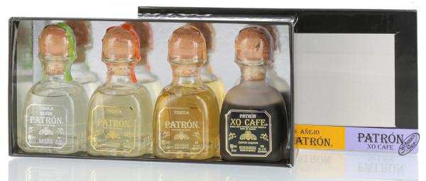Patron Tequila Tasting-Box Geschenk-Set 38,75% vol. 4 x 0,05l