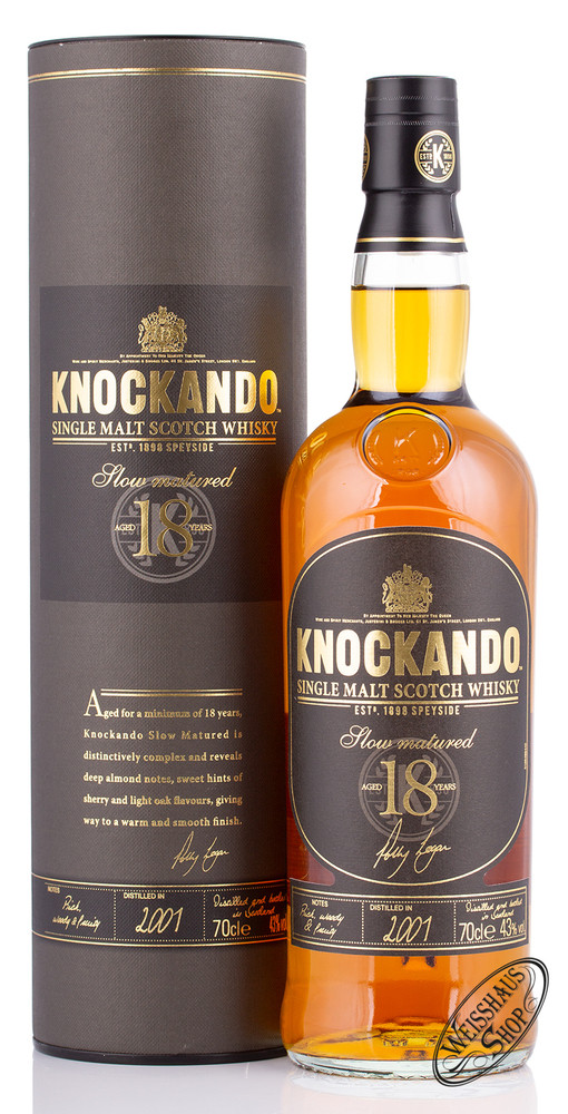 Knockando 18 YO Single Malt Whisky 43% vol. 0,70l