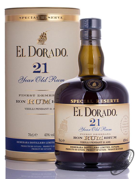 El Dorado Rum 21 YO 43% vol. 0,70l