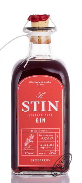 The STIN Styrian Sloe Gin 27% vol. 0,50l