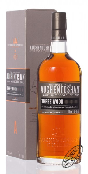 Auchentoshan Three Wood Single Malt Whisky 43% vol. 0,70l
