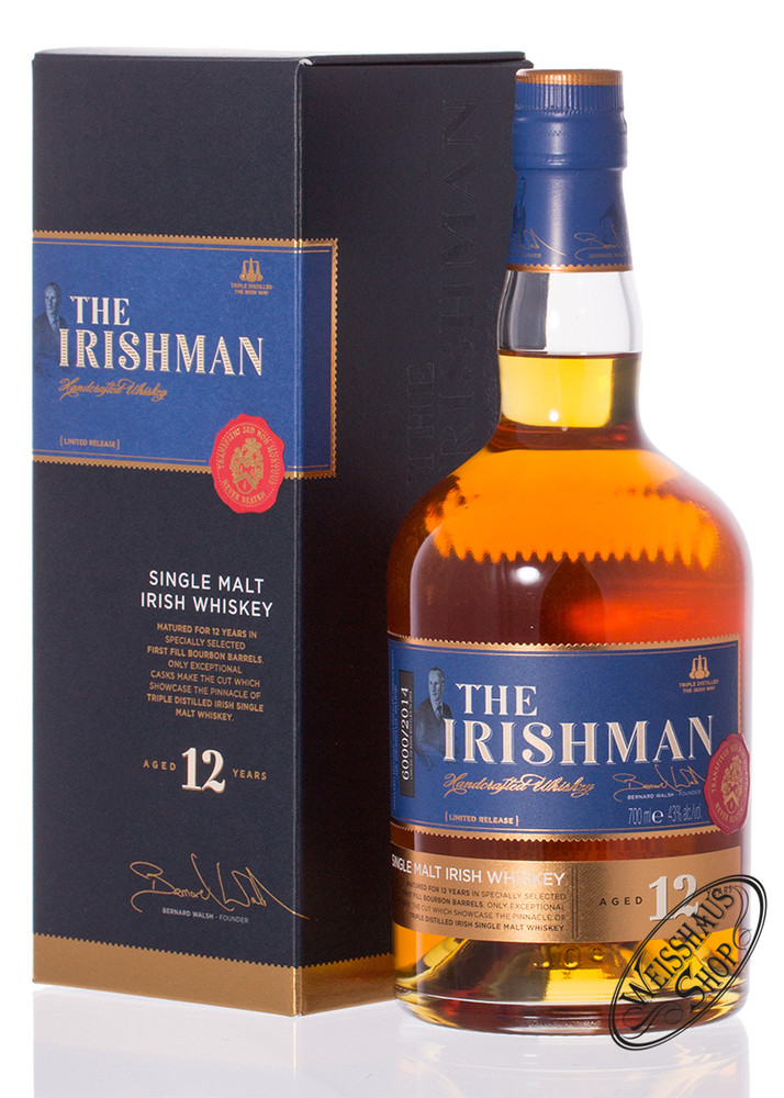 The Irishman 12 YO Irish Whiskey 43% vol. 0,70l