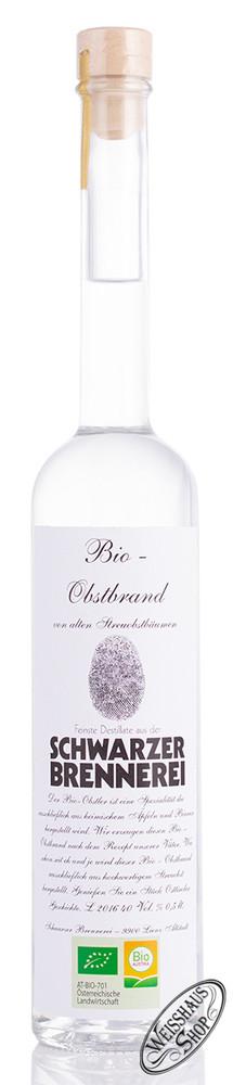 Schwarzer Bio Obstbrand 40% vol. 0,50l