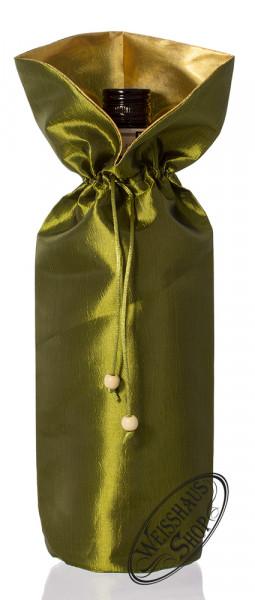 Grüne Geschenktasche für 0,70l - Flasche