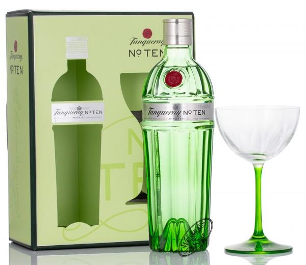 Tanqueray No. 10 Gin mit Cupette Glas 47,3% vol. 0,70l