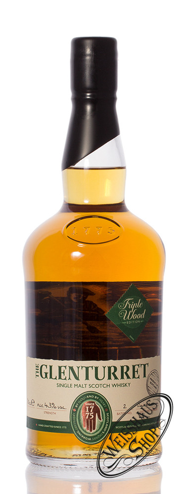Glenturret Triple Wood Whisky 43% vol. 0,70l