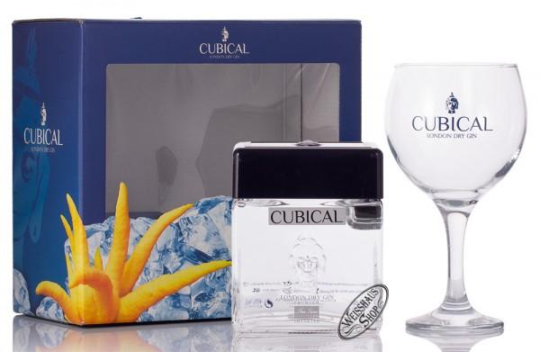 Cubical by Botanic Premium London Dry Gin mit Glas 40% vol. 0,70l