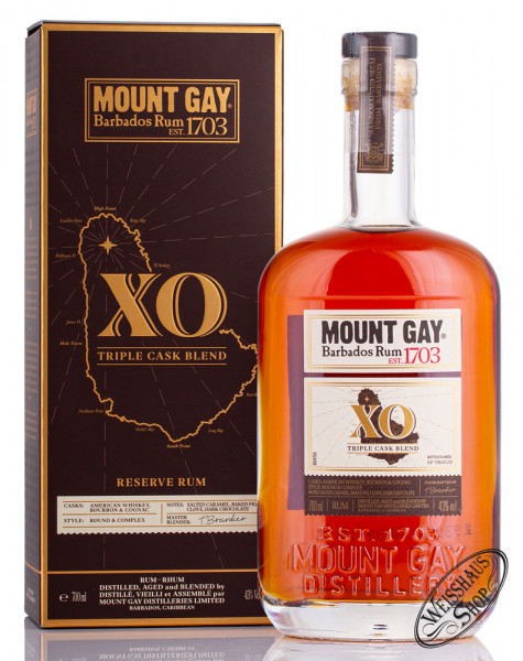 Mount Gay XO Reserve Cask Rum 43% vol. 0,70l