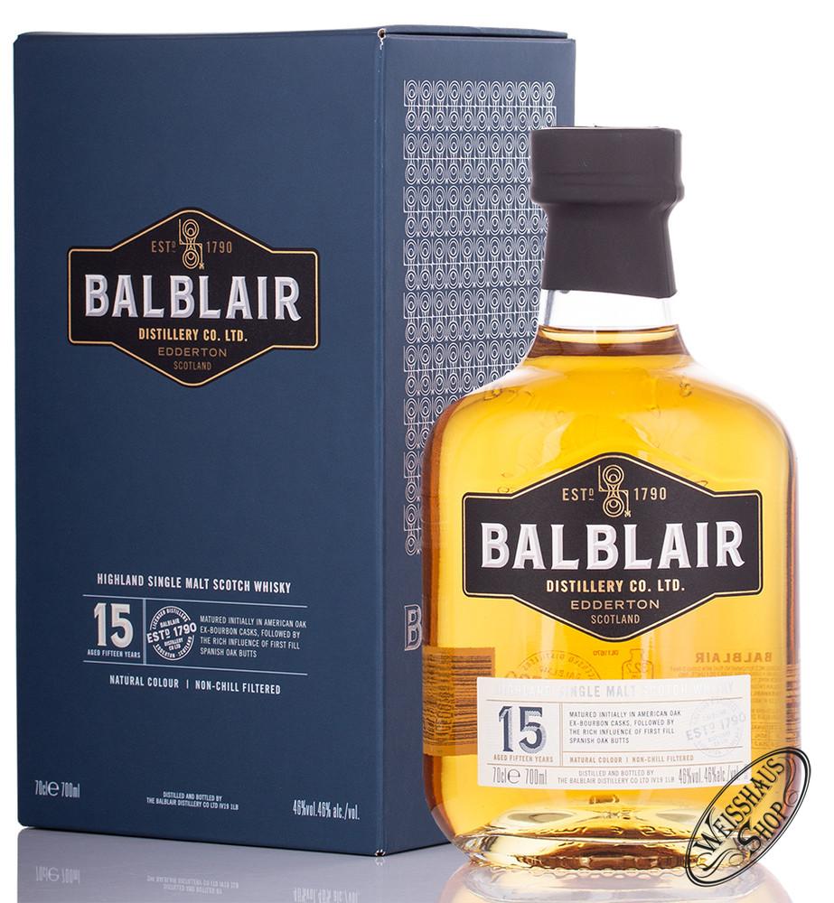 Balblair 15 YO Highland Single Malt Whisky 46% vol. 0,70l