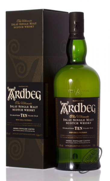 Ardbeg Ten 10 YO Islay Single Malt Whisky 46% vol. 1,0l
